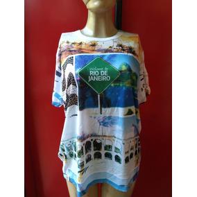Camisa Camiseta Tshirt Pontos Turísticos Rio De Janeiro - G