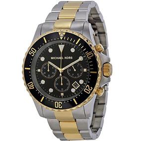 Relógio Michael Kors Masculino Mk8311 Everest Misto Dourado