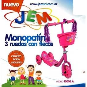 Monopatín Flecos 3 Ruedas Silicona C/ Freno Jem Casa Valente