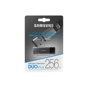 Pen Drive Samsung Duo Plus 256gb Usb 3.1 E Usb Type-c