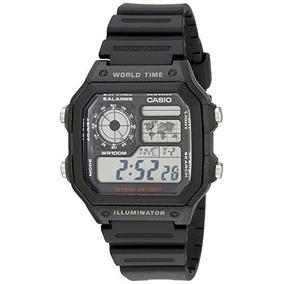 821fc489ad0 Reloj Multifuncional A Time World Ae1200wh-1a De Casio Para