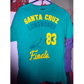 Playera Santa Cruz Longboard 1983 Finals Retro Green Verde