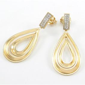 1b47451073a Brincos Ouro Diamantes Pendente - Joias e Relógios no Mercado Livre ...