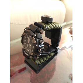 Reloj Tipo Supervivencia Verde Militar