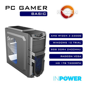 Pc Gamer Basic Ryzen 3 2200g / 8gb / 1tb / 400w