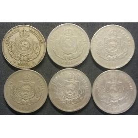 6 Moedas Imperiais - 1871, 1874, 1877, 1880, 1882 E 1884.