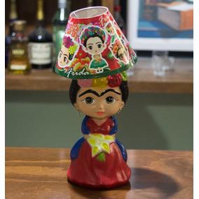 Regalo Lampara Frida Khalo Original Ceramica Con Envío