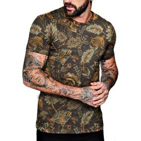5cc1d298b Desenho De Flores - Camisetas para Masculino no Mercado Livre Brasil