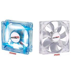 Cooler Fan Led Blue 80mm X 80mm Para Gabinete ! 8 X 8cm !