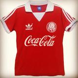 Camisa Palmeiras Retro Vermelha Anos 80