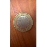 Moneda 10 Pesos Grafila Invertida Original