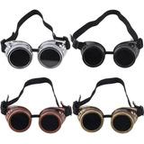 Óculos De Sol Redondo Steampunk Soldador - Gótico - Mad Max a37686a092