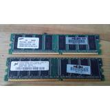 Memoria Ram 2x 256mb Ddr Pc2700u-25331