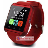 Rojo - Bluetooth Smart Muñeca Reloj Teléfono - 571511663845