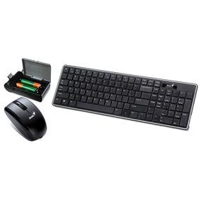 Teclado Y Mouse Inalambrico Genius Luxemate R820 Pc Laptos