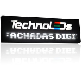 Fachada Digital Com Painel De Leds Logomarca Vazada Iluminad