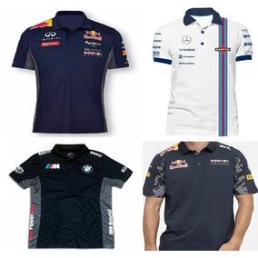 Kit 4 Camisa Camiseta Polo Red Bull Repsol Mercedes F1 Bmw 366b6100a1a