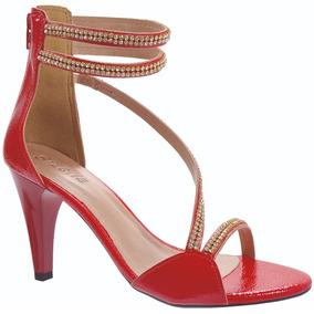 c08aedc03d Sandália Prata Festa Feminino - Sapatos Vermelho no Mercado Livre Brasil