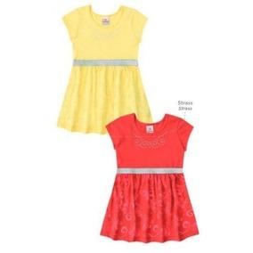 Vestido Infantil Feminino Brandili Malha Decore 32813