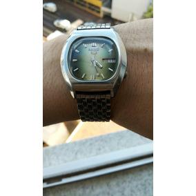 0840b1e0ffc Magnífico Relógio Seiko 7009-5070 Automático Verde Metalico