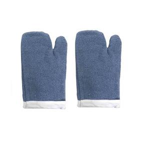 b7177f6425617 Luva Térmica Mão De Gato Alta Temperatura Grafatex Azul 35cm