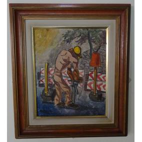 Quadro Pintor Eugênio Sigaud O Martelete Encáustica Pintura