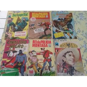 6 Gibis:durango Kid,cisco Kid,gavião Negro,cavaleiro Negro
