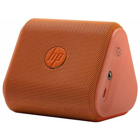 Caixa De Som Speaker Bluetooth Hp Mini Roar Laranja