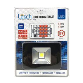 Refletor De Led Com Sensor De Presença 10w 6000k 127v -