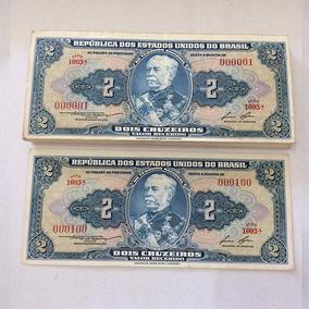100 Cédulas De 2 Cruzeiros Sequenciais De 000001 A 000100