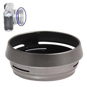 Lente Lens Hood 49 Silver Metal Vented Para Fuji X Cwdp