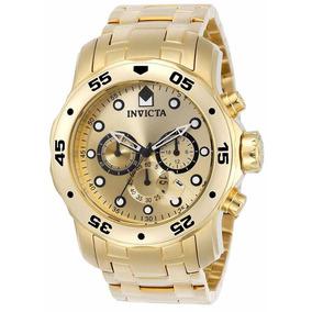 Relógio Invicta Pro Diver 0074 - Ouro 18k Original