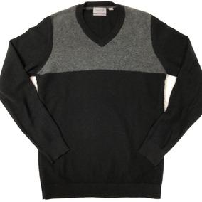 Camisa Slim Fit Suéter Blusa Frio De Lã Calvin Klein Gola V