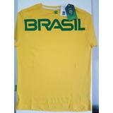 5f99e173f7d71 Camisa Tshirt Brasil Seleção Time Brasil Olimpiadas Rio 2016