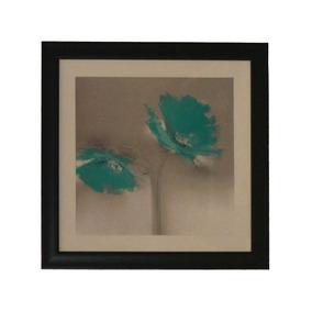 Cuadro Flores Impresión Grabado Enmarcado Ll 040 Bm Home