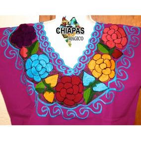 Blusa Bordada De Chiapas / Talla Xl / Mag / Zinacantán / Mac