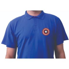 Camisa Polo Masculina Adulto Geek America- Polo Piquet Azul 34009ab4161