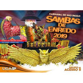 Cd Samba Enredo Carnaval 2019 Escola De Samba De Sp Acesso 2
