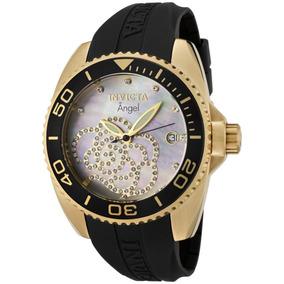 Reloj De Cuarzo Invicta Angel 0489 Coleccion Zirconia Perla