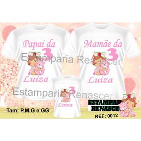 Camiseta Moranguinho Baby - Camisetas no Mercado Livre Brasil 09edc7b2744