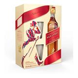 Estuche Whisky Johnnie Walker Red Rojo + 2 Vasos X 750cc