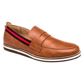 Zapato Casual Mocasin Capa De Ozono Hombre Camel Dtt 57808
