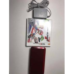 Nintendo 3ds Vermelho C/ Mario Kart 7