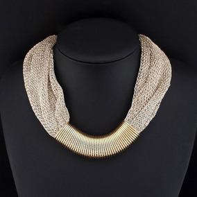 b7fbd3a9d217 Collar Dorado Elegante - Joyería en Mercado Libre México