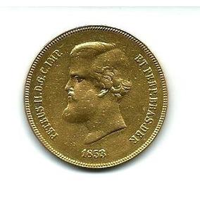 Moeda De Ouro 20.000 Reis 1853