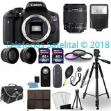 Canon Eos Rebel T6i Slr Camera Wifi Kit Para Hacer Videos
