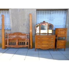 Antiguo Dormitorio Provenzal Comoda Mesitas Espejo Cama