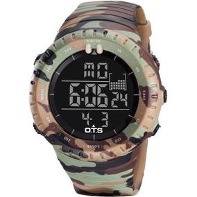 Relógio 50 Metros Ots Original Camuflage Selva Militar Sport