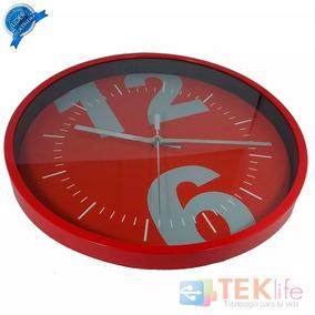Reloj De Pared Moderno Rojo Ga-2830