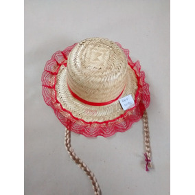 Chapéu Com Trança Festa Junina - Artigos para Festas no Mercado ... 3b504c76719